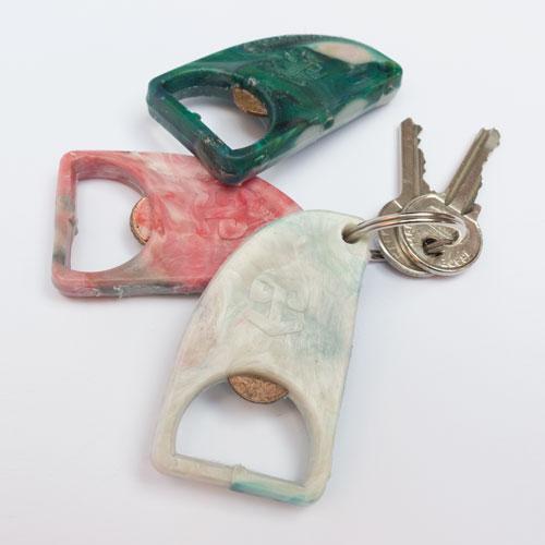 portachiavi BackBO da plastica riciclata