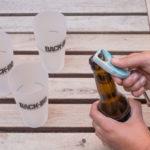 cavatappi in plastica riciclata apre bottiglia