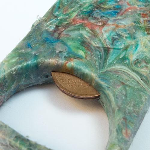 portachiavi in plastica riciclata